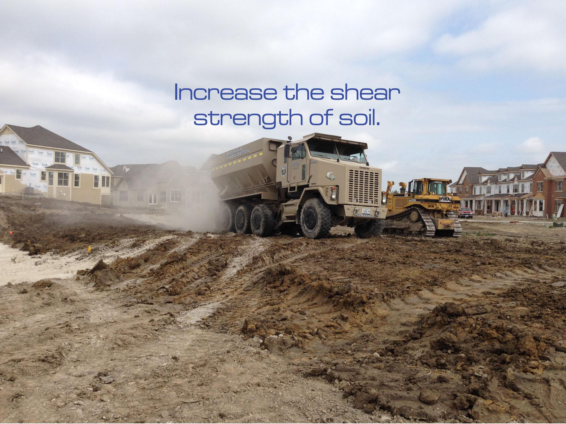 Increase shear strength